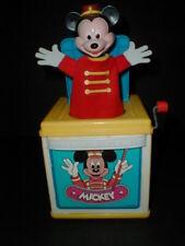 Disney Mattel Mickey Mouse Minnie Donald Duck Goofy Jack In The Box  1987