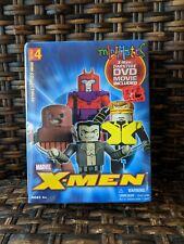Marvel X-Men Mini Mates WOLVERINE CYCLOPS MAGNETO JUGGERNAUT New Darktide DVD