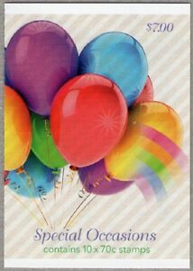 2014 AUSTRALIAN STAMP BOOKLET BALLOONS - SPECIAL OCCASIONS - 10 x 70c MUH