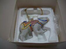 Lenox Ornament 1989 Carousel Animal Polar Bear In Original Box