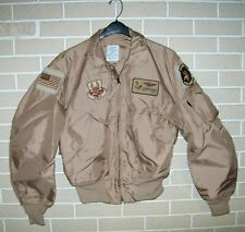 Genuine USAF Issue Type CWU 36/P Summer Flyers Jacket Named and Patched - Size L