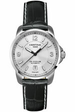 NEW Swiss Made Certina DS Podium Automatic Silver Dial Black Leather Men's Watch