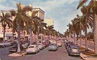 1951 Biscayne Boulevard autos Miami Beach Florida Novelti Craft postcard 8206