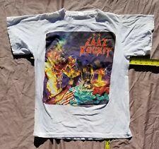Vtg   Laaz Rockit 1988 European tour shirt  NOT  a  reprint. Exodus  TestAmenT