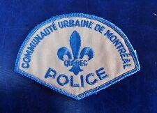 COMMUNAUTE URBAINE DE MONTREAL QUEBEC, CANADA POLICE SHOULDER PATCH