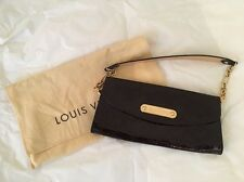 Louis Vuitton Sunset Boulevard Amarante Vernis Chain Clutch Bag