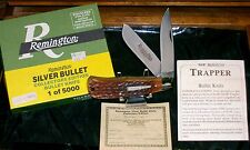 Remington R1128 Knife Bone Stag Silver Bullet Trapper #3004 W/Packaging,Papers