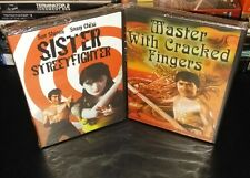 sister street fighter & master with cracked fingers, 2 dvd's, (sealed)