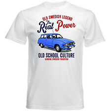 VINTAGE SWEDISH CAR SAAB 96 V4 - NEW COTTON T-SHIRT