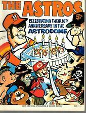 1974 MLB Baseball Program, Los Angeles Dodgers @ Houston Astros, unscored ~ VG