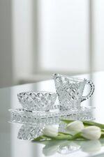 Galway Crystal Ashford Sugar, Cream / Milk Jug and Tray. NEW. RRP £40 / $63