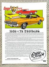 FORD LINCOLN MERCURY 1969 1970 COUGAR XR-7 ELIMIMATOR LITERATURE FACT SHEET 67
