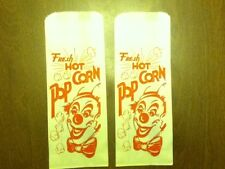 4 Alike Ca. 1950s Red Clown Popcorn Paper Product Bags Vintage Old Circus Color