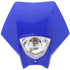 Tete de fourche plaque phare Master BLEU Moto Cross Enduro Dirt Headlight Yamaha