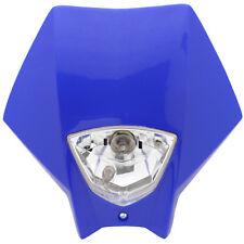 Tete de fourche plaque phare Master BLEU Moto Cross Enduro Dirt Headlight Yamaha
