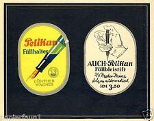 Pelikan Füller Füllhalter Füllbleistift Reklame 1936 Füller Mine
