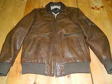 Vintage U2 Wear Me Out Brown Leather Jacket Size 40