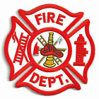 FIRE DEPARTMENT - LADDER & PUMP -  SEW ON PATCH