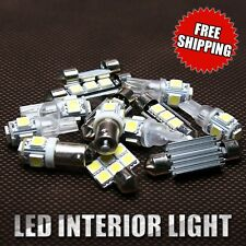 7x White LED SMD Bulbs Interior Package Kit For 2010-2013 Ford Mustang 1 Yr Wty