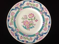 "Minton England Turquoise & Pink Dinner Plate 10 1/4"" for Tiffany & Co."