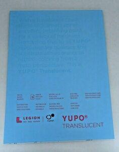 """Yupo Translucent  Multimedia Paper Pad  9""""x12"""" - 104 lb. 15 sheets white"""