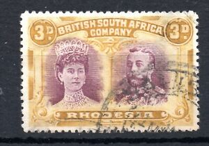 Rhodesia (6980) 1910 King George V / Queen Mary Double Heads 1x3d sg145