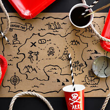 PIRATE PARTY DECORATIONS | 6 x Placemats | Cheap Pirate Birthday Party Tableware