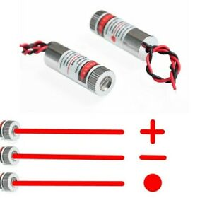 650nm 5mW Rot Punkt/Linie/Kreuz Laser Modul Objektiv Fokussierbar Industrie DE