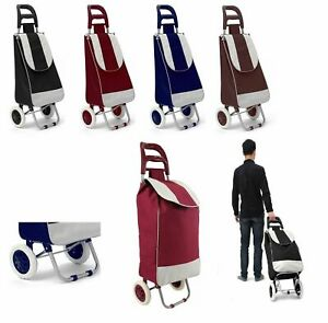 New 2 Wheel Essential Folding Durable Wheeled Strong Shooping Trolley Bag