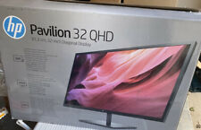 "HP - Pavillion 32"" LED QHD Monitor - Black - Gaming New"