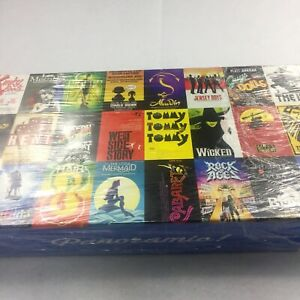 """Showtime Tickets Jigsaw Puzzle """"Musicals on Broadway"""" 1000 Pieces RARE!"""