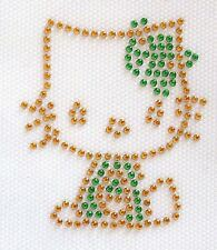 PATCH STRASS THERMOCOLLANT - CHAT KITTY - 6 x 5,5 cm