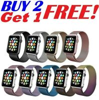 38 42 40 44mm For Apple Watch 5/4/3/2/1 Magnetic Milanese Loop Band iWatch Strap