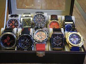 Uhren Konvolut 10 Armbanduhren Automatik(5) und Quarz(5) im Uhrenkasten