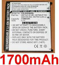 Batería 1700mAh tipo 430128-002 HSTNH-F15C HSTNH-S12B Para HP iPAQ 300