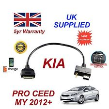 For KIA Proceed MY 2012+ iPhone 3gs 4 4S & most iPods USB 3.5mm Aux Audio Cable