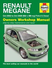 Haynes Owners Workshop Manual Renault Megane Pet Diesel (02-08) SERVICE REPAIR