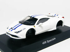 KYOSHO 1:64 Ferrari 458 Speciale White Diecast Miniature Car Kit Collection 12