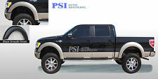 BLACK PAINTABLE Extension Style Fender Flares 2009 - 2014 Ford F-150 ; Full Set