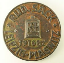 ~ Antique 1863-91 Cast Iron RUDOLPH SACK Farm Machinery Plaque Leipzig-Plagwitz