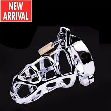 New Ring Design Stainless Steel Bird Cage Male Chastity Belt Devices Lock CB3000