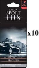 Areon Sport LUX Parfum/Cologne Carton Désodorisant De Voiture PLATINUM10PK