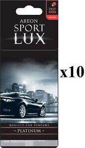 Areon Sport LUX Quality Perfume/Cologne Cardboard Car Air Freshener PLATINUM10PK