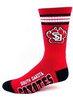 South Dakota Coyotes NCAA Red Deuce 4 Stripe Crew Socks