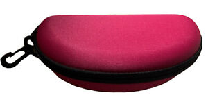Sunglasses Carry Case Eye Glasses Clam Hard Shell Portable Zipper Protector Pink