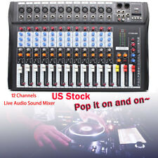 Professional USB 12 Channel Live Sound/Studio Mixing Board Mixer Live & Studio!!