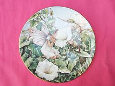 BORDER Boxed & CoA Flower Fairies Cicely Mary Barker Plate WHITE BINDWEED FAIRY