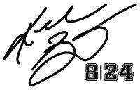 "KOBE BRYANT #8 #24 Basketball Vinyl Decal Sticker Car Black 6"""