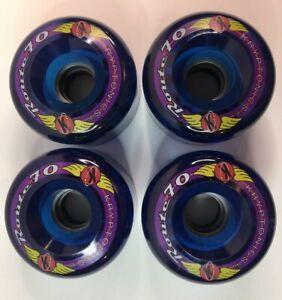 KRYPTONICS ROUTE 70MM BLUE Longboard Skateboard Roller Skating Wheels Set of 4