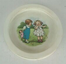 Darling BUFFALO POTTERY Early 1900's Child's Dish DOLLY DINGLE Campbell Soup Kid